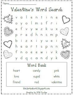 Kindergarten Is A Hoot!: Valentine's Day Word Search **FREEBIE**