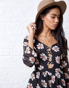 #ARKLOVES the lace up trend - Ark Mona Daisy Playsuit #laceup #playsuit #daisyprint