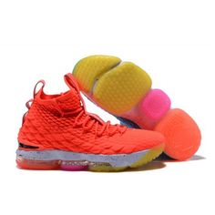 833706e35f26 New 2017 Men Nike Lebron 15 Basketball Shoes Orange Blue Lebron James 15
