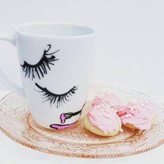Wakeup With Makeup - Coffee Mug - My Dream Boutique - Dishware - Kitchen - Makeup - Mug - Beauty -Ceramic Mug
