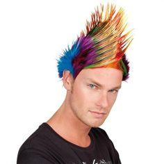 Homme cheveux mohawk perruque mohican punk rock déguisement fête costume sid vicious