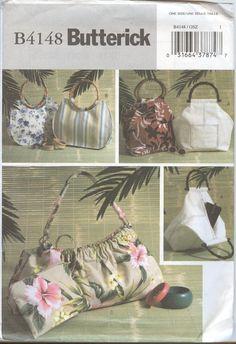 Handbag Pattern Butterick 4148 Handbags by TheYesterYears on Etsy