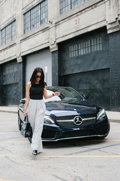 Athletic, sporty, sensual. Photographer Courtney Ryan with @taniasarin and the Mercedes-Benz C-Class Coupé. Via @mercedesbenzusa #MBphotopass