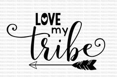 Raising my tribe SVG DXF EPS png  Cut Files by PerfectlyPoshPixels