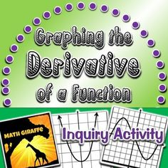 Graphs of Derivatives - Discovery: This three-page worksheet will guide your students to graph the derivative of a function and make observations about the following concepts: * The slope of a tangent line to a curve can be identified at various points and used to create the graph of the derivative. * The degree of f'(x) is equal to the degree of f(x) minus one. * The second derivative of f(x) is denoted by f''(x) and is the derivative of f'(x). *The derivative of a cubic func...