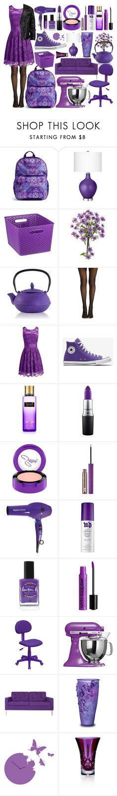 """""""💜💜💜"""" by canarybees ❤ liked on Polyvore featuring Vera Bradley, Home Basics, ShoeDazzle, MAC Cosmetics, Urban Decay, Lauren B. Beauty, NYX, Flash Furniture, KitchenAid and Somette"""