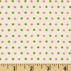 Pirouette Dots Pink/Green from @fabricdotcom  Designed by Verna Mosquera for Free Spirit Fabrics, this cotton print is perfect for quilting and craft projects as well as apparel and home décor accents. Colors include cream, pink, and green.