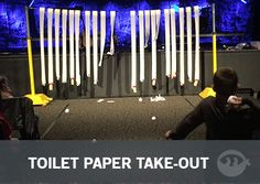 Toilet Paper Take-Out - Fun Ninja Youth Group Games