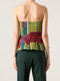 STELLA JEAN - Ayana patterned bustier top 9