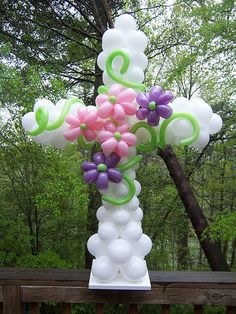 for Easter, Baptism or First Communion Première Communion, First Communion Party, Baptism Party, First Holy Communion, Baptism Ideas, First Communion Decorations, Baptism Decorations, Balloon Crafts, Balloon Decorations