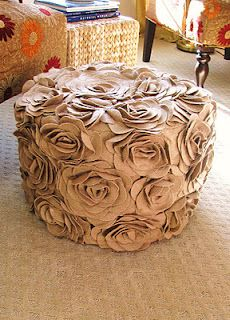 Felt Floral Pouf (aka the pouf that launched a thousand Facebook comments)