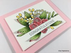 """Hi everyone! Today I am back with my monthly feature """"1 kit- 10 cards"""" making the most out of the June card kit by SimonSaysStamp.com The kit was wedding themed,…"""