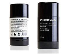 Journeymen - Natural Deodorant Stick 3, Aluminum Free, Paraben Free, Made in USA