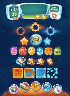 Sky Rider Hero: Crazy Aliens UI on Behance