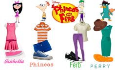 """Disney's Phineas and Ferb"" by onedirectionginger ❤ liked on Polyvore"