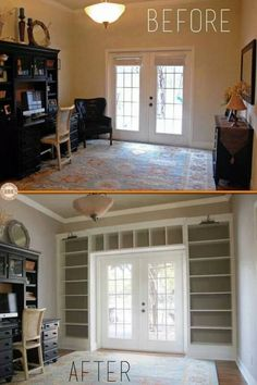 Turn what would be wasted space into novel storage ideas - reduce the need for furniture and have built ins