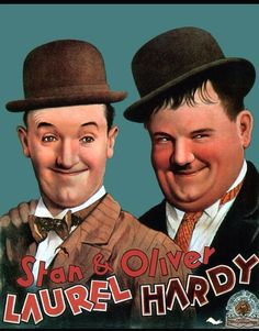 Laurel and Hardy were a comedy double act during the early Classical Hollywood era of American cinema. The team was composed of thin Englishman, Stan Laurel . Laurel And Hardy, Stan Laurel Oliver Hardy, Great Comedies, Classic Comedies, Classic Movies, Old Movies, Vintage Movies, Mejores Series Tv, Comedy Duos