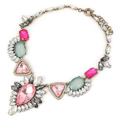 Homecoming multicolor geometry pendant design alloy Fashion #Necklaces www.asujewelry.com