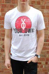 Your Own Clothing (yo effect) Hibachi White Logo Print T Shirt | ScaryCanary