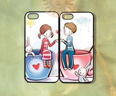 Customized Couple Case-iPhone 5, iphone 4s, iphone 4 case, Samsung GS3-Silicone Rubber or Hard Plastic Case, Phone cover