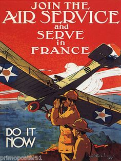 Join Air Service do It Now American France Repro Poster | eBay