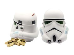 Storm Trooper Piggy Bank Coin Jar White Money Box Star Wars Official Licensed No…