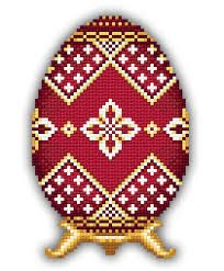 red faberge egg pattern