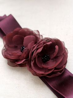 Bridal Flower Sash Wedding Dress Accessories Bridal by BelleBlooms