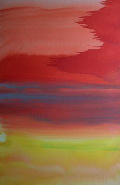 Koen Lybaert; Watercolor, 2013, Painting Barkeol I