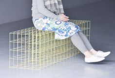 Water Lily by Ryuji Nakamura | These are benches colored with crayons! #chairjunky