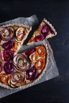 A beautiful almond tart that's better than a bouquet of flowers