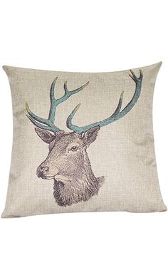 "Cotton Linen Decorative Throw Pillow Case Cushion Cover (Deer) 18 ""X18"" Best Price"