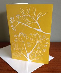 Wild Fennel Hedgerow Greeting Card by AlisonBickDesigns Picture Boards, Handmade Items, Handmade Gifts, Fennel, Textile Design, Stationary, Art Projects, Greeting Cards, Joy