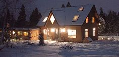 The Big House Lodge is a winter wonderland during the cold months