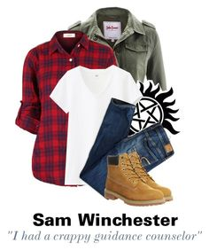 """""""Tagged: Sam Winchester"""" by parisinblackandwhite ❤ liked on Polyvore featuring Uniqlo, American Eagle Outfitters, Timberland, women's clothing, women, female, woman, misses and juniors"""