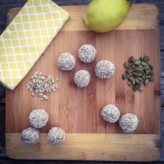 Lemony bliss balls