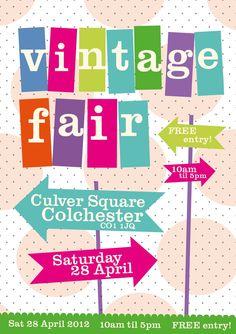 Vintage fair flyer design April 2012