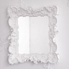 white mirror.