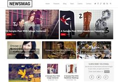 #Newsmag #Blogger Template Free Download | News Magazine Template