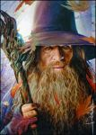 Gandalf Desolation of Smaug PSC watercolor/marker/multiliners The Hobbit Mithrandir Legolas, Thranduil, Fellowship Of The Ring, Lord Of The Rings, O Hobbit, Desolation Of Smaug, Character Sketches, Dark Lord, Middle Earth