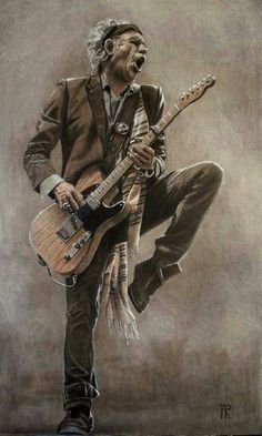 you can't always get what you want, Keith Richards painting, imagination, revelation Arte Assassins Creed, Rock Band Posters, Rollin Stones, British Rock, Music Artwork, Guitar Art, Keith Richards, Jim Morrison, Concert Posters