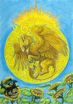 """""""Gryphon Tarot: The Sun"""" par Kristen M. Buckner"""