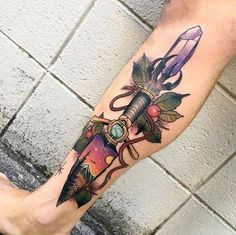 Colorful Dagger Crystal Tattoo                                                                                                                                                                                 More