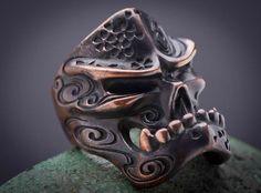 Cherry blossom skull ring from Starlingear.
