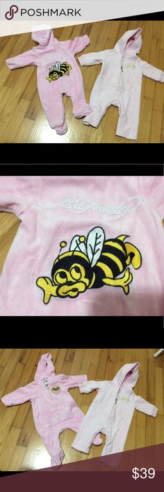 Ed hardy juicy couture baby 3 6 month AUTHENTIC Good condition AUTHENTIC 2 Pieces incluided Ed Hardy Pajamas Robes