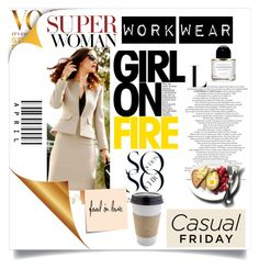"""""""Work wear"""" by zerinafe on Polyvore featuring OUTRAGE and Post-It"""