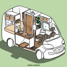 #Neuer Camper   Fiat Ducato Camper Ausbau   vanilla icedream Ducato Camper, Fiat Ducato, Bus House, Tiny House, Kombi Home, Van Camping, Campervan, Aesthetic Art, Van Life