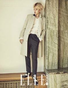 EXO Baekhyun Elle Magazine November 2015 Photoshoot Fashion