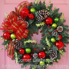 Winter Welcome Wreath - 2012 - New Bow! - #ChristmasWreaths #XmasWreaths #Wreaths #WinterWreath
