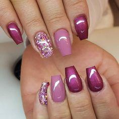 Nail Art Designs, Winter Nail Designs, Short Nail Designs, Acrylic Nail Designs, Nails Design, Acrylic Nails, Gel Nagel Design, Pretty Nail Art, Dipped Nails